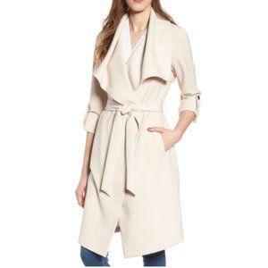 NWT Soia & Kyo Roll Sleeve Drape Front Pearl White